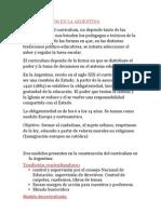 El Curriculum en La Argentina
