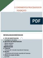 Preferencia de Condimentos Procesados en Huancayo
