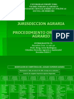 Jurisdiccion Agraria y Procedimiento Contencioso Agrarioo