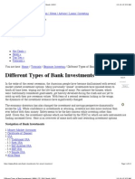 Different Types of Bank Investments