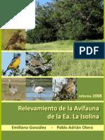 Avifauna La Isolina 2008