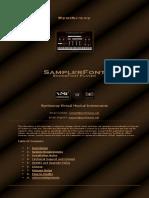 Fantasize SoundFont SF2 Player VST Plugin Software (Sampler) by Syntheway