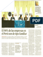 El 90% de las empresas en el Perú son de tipo familiar
