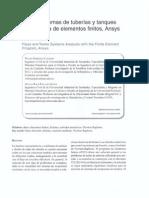 Análisis de sistemas de tuberías y tanques con el programa de elementos finitos, ansys