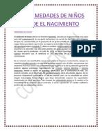 EMFERMEDADES DE NIÑOS DESDE EL NACIMIENTO