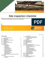 Checklist Site Inspection