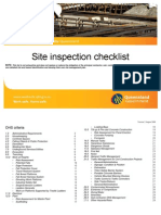 Checklist Site Inspection