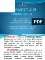 Fundamentals of Criminology Revised 2011-2012
