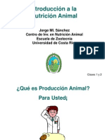 Introducción a la Nutricion animal