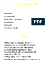 Partes del Artículo Científico