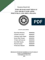 Manajemen Rumah Sakit Sebagai Ranjau Dilihat Dari Aspek Peraturan, LSM, Serta Pesaing