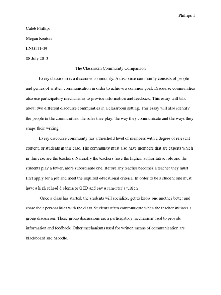 discourse community essay essays speech