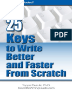 25 Ways to Write Better and Faster From Scratch