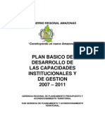 Plan Basico de Desarrollo de Capaciddaes Inst de Gestion 2008-2011