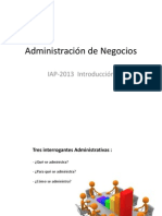 Administración de Negocios clase I