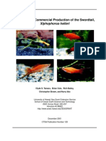 a manual for commercial production of the swordtail, xiphophorus helleri