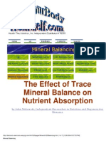 The Effect of Trace Mineral Balance on Nutrient Absortion
