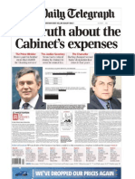 The Daily Telegraph on Politicians Expenses