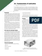 Fundamentals of Lubrication