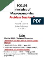 Problem Session-2 15.03.2012