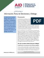 USAID AED Policy Brief 6 - Plataforma Integrada de Información Social de Guatemala