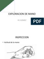 Exploracion de Mano