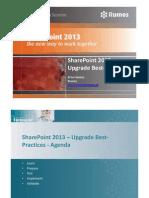 SharePoint 2013 Upgrade