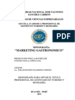 Marketing Gastronomico - Monografia