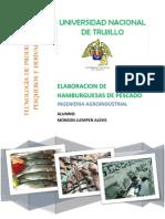 Elaboracion de Hamburguezas de Pescado