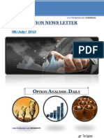 Daily Option News Letter 08 July 2013