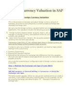 Foreign Currency Valuation in SAP ECC 6