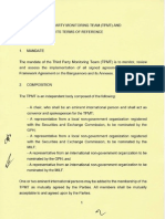 The Third Party Monitoring Team (TPMT) and Its Terms of Reference