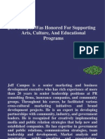Jeff Campos Was Honored For Supporting Arts, Culture, And Educational Programs