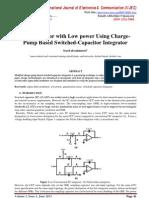ΔΣ Modulator with Low power Using Charge- Pump Based Switched-Capacitor Integrator