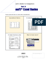 Basic Computer Knowledge Good Part 4 Excel