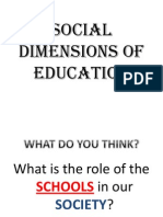 Introduction to Social Dimensions of Education