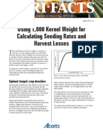 Using 1,000 Kernel Weight for Calculating Seeding Rates and Harvest Losses