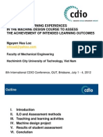 Integrated Learning Experiences in the Machine Design Course