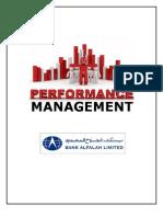Performance Management System of Bank Alfalah