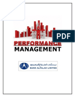 Performance Management System of Bank Alfalah