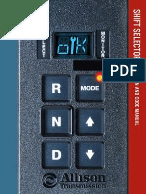 Allison Shift Selector Op & Codes | Transmission (Mechanics