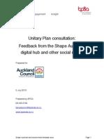 Shape Auckland and Social Media Feedback