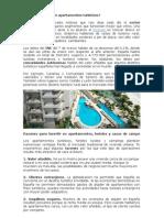 Por qué invertir en apartamentos turísticos