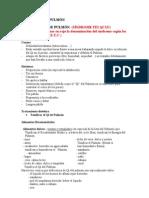 Dietoterapia de Los Sindromes de Pulmon