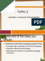 Chapter 3 ASSEMBLY LANGUAGE PROGRAMMING