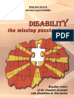 Disability the Missing Puzzle Piece  Baseline review of the situation of people with disabilities in Macedonia