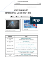 International Events Bratislava July 8th-14th