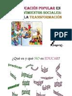 La Educación Popular en los MS, eje de Transformación (Palante)