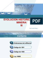 III. Evolucion de Mineria