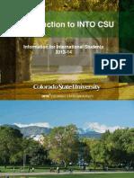 INTO 미국 CSU Information